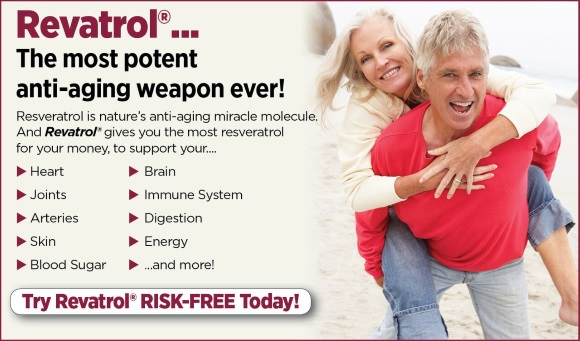 [Image: Revatrol... The most potent anti-aging weapon ever!]